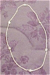 Sterling necklace with cubic zirconias