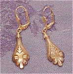 Goldtone earrings with art nouveau design
