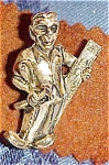 Carpenter figural tie tack