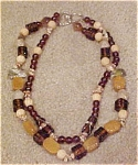 Glassbead necklace with scarabs