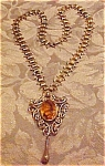 Click to view larger image of Art nouveau pedant on revival chain (Image1)