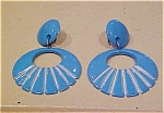Blue plastic earrings