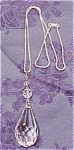 Click to view larger image of Crystal pendant on chain (Image1)
