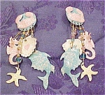 Lunch at the Ritz sea theme earrings