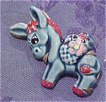 Ceramic Donkey pin