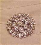 Metal rhinestone button