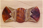 Click here to enlarge image and see more about item x3995: Chrome and bakelite buckle