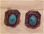 Sterling and turquoise cufflinks