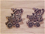 Silvel Wagon and Driver cufflinks