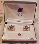 Swank Roman design cufflinks and tie tack