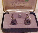 Royce Creations cufflinks and tie tack