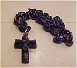Bakelite cross on chain