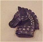 Black wood horse pin