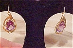 Amethyst earring set in 14k gold wire