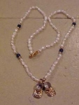 Freshwater pearl necklace w/shoe charms