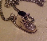 Sterling necklace with shoe charm