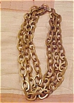 3 strand brass necklace