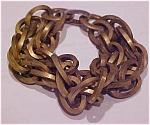 Brass link bracelet