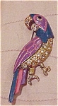 Enameled Parrot pin with rhinestones