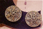 Goldtone filligree earrings