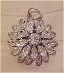 Click here to enlarge image and see more about item x5117: Rhinestone flower pendant