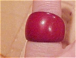 Mahogany colored wood ring