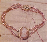 Click here to enlarge image and see more about item x5207: Bracelet with freshwater pearls
