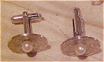Click here to enlarge image and see more about item x5222: Sterling cufflinks with pearls