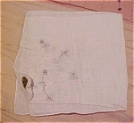 Handkerchief with flower design
