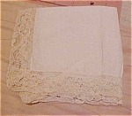 Click here to enlarge image and see more about item x5232: Handkerchief with lace edging