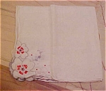 Click here to enlarge image and see more about item x5237: Handkerchief with flowers