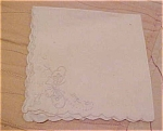 Handkerchief with embroidered flowers