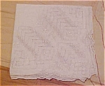 Handkerchief with cut out design