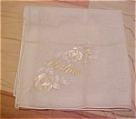 Handkerchief with mother embroidery