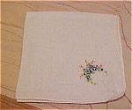 Handkerchief with bouquet flower design