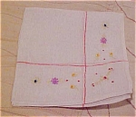 Handkerchief with floral design