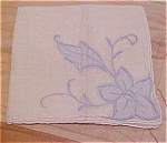 Handkerchief with blue flowers