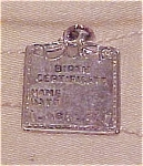 Click here to enlarge image and see more about item x5275: Birth certificate charm