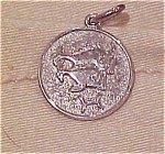 Sterling charm with fish