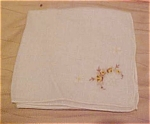 Handkerchief with basket design