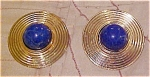 Contemporary earrings with lapis