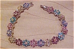 Contemporary multi color rhinestone bracelet