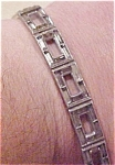 Rhodium bracelet with rhinestones