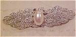 Carolee Brooch w/ rhinestones and faux pearl