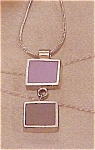 Contemporary necklace with purple pendant