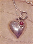Sterling heart pendant on chain