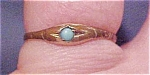 Gold filled ring with turquoise