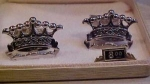 Howard Farley sterling crown cufflinks