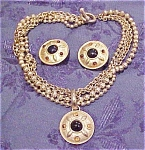 Goldtone necklace and earrings
