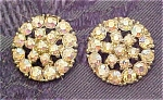 2 rhinestone metal buttons